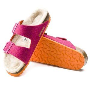 NIB Birkenstock Arizona wool felt sandals